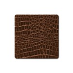 Leather Look & Skins Brown Crocodile Magnet (Square)