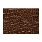 Leather Look & Skins Brown Crocodile Sticker A4 (10 pack)