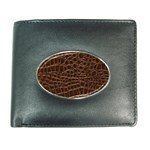 Leather Look & Skins Brown Crocodile Wallet
