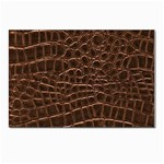 Leather Look & Skins Brown Crocodile Postcard 4 x 6  (Pkg of 10)