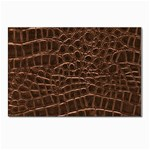 Leather Look & Skins Brown Crocodile Postcards 5  x 7  (Pkg of 10)