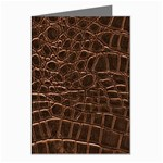 Leather Look & Skins Brown Crocodile Greeting Cards (Pkg of 8)