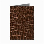 Leather Look & Skins Brown Crocodile Mini Greeting Card