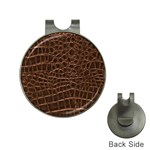 Leather Look & Skins Brown Crocodile Golf Ball Marker Hat Clip