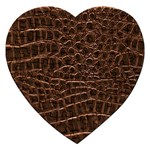 Leather Look & Skins Brown Crocodile Jigsaw Puzzle (Heart)