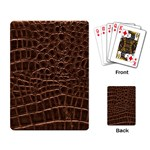 Leather Look & Skins Brown Crocodile Playing Cards Single Design