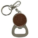 Leather Look & Skins Brown Crocodile Bottle Opener Key Chain