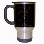 Leather Look & Skins Black And Brown Floral Travel Mug (Silver Gray)