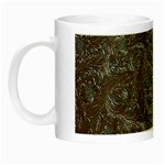 Leather Look & Skins Black And Brown Floral Night Luminous Mug