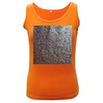 Leather Look & Skins Black And Brown Floral Women s Dark Tank Top