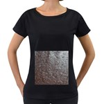 Leather Look & Skins Black And Brown Floral Maternity Black T-Shirt