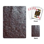 Leather Look & Skins Black And Brown Floral Playing Cards Single Design