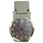 Leather Look & Skins Black And Brown Floral Money Clip Watch