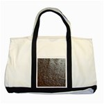 Leather Look & Skins Black And Brown Floral Two Tone Tote Bag
