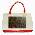Leather Look & Skins Black And Brown Floral Classic Tote Bag (Red)