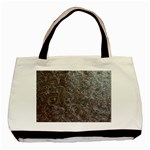 Leather Look & Skins Black And Brown Floral Classic Tote Bag (Two Sides)