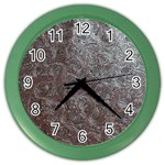 Leather Look & Skins Black And Brown Floral Color Wall Clock