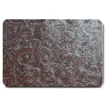 Leather Look & Skins Black And Brown Floral Large Doormat