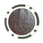Leather Look & Skins Black And Brown Floral Poker Chip Card Guard