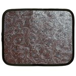 Leather Look & Skins Black And Brown Floral Netbook Case (Large)