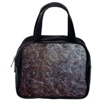 Leather Look & Skins Black And Brown Floral Classic Handbag (One Side)