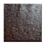 Leather Look & Skins Black And Brown Floral Face Towel