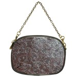 Leather Look & Skins Black And Brown Floral Chain Purse (One Side)