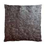 Leather Look & Skins Black And Brown Floral Cushion Case (Two Sides)