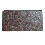 Leather Look & Skins Black And Brown Floral Pencil Case