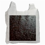 Leather Look & Skins Black And Brown Floral Recycle Bag (Two Side)