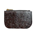 Leather Look & Skins Black And Brown Floral Mini Coin Purse