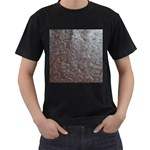 Leather Look & Skins Black And Brown Floral Black T-Shirt