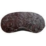 Leather Look & Skins Black And Brown Floral Sleeping Mask