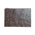 Leather Look & Skins Black And Brown Floral Cosmetic Bag (Large)