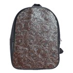 Leather Look & Skins Black And Brown Floral School Bag (Large)