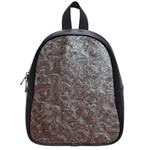 Leather Look & Skins Black And Brown Floral School Bag (Small)