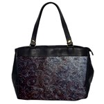Leather Look & Skins Black And Brown Floral Oversize Office Handbag (One Side)