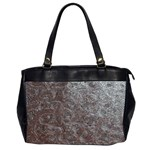 Leather Look & Skins Black And Brown Floral Oversize Office Handbag (Two Sides)