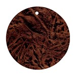 Leather Look & Skins Bark Brown Ornament (Round)