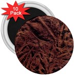 Leather Look & Skins Bark Brown 3  Magnet (10 pack)