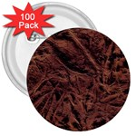 Leather Look & Skins Bark Brown 3  Button (100 pack)