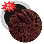 Leather Look & Skins Bark Brown 3  Magnet (100 pack)