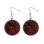 Leather Look & Skins Bark Brown 1  Button Earrings