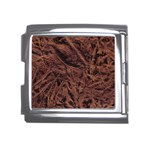 Leather Look & Skins Bark Brown Mega Link Italian Charm (18mm)