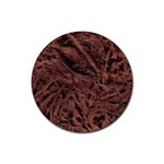 Leather Look & Skins Bark Brown Rubber Round Coaster (4 pack)