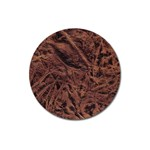 Leather Look & Skins Bark Brown Magnet 3  (Round)