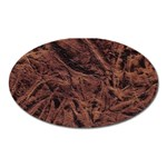 Leather Look & Skins Bark Brown Magnet (Oval)