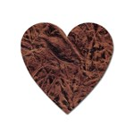 Leather Look & Skins Bark Brown Magnet (Heart)