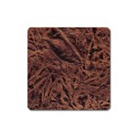 Leather Look & Skins Bark Brown Magnet (Square)