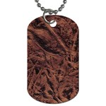 Leather Look & Skins Bark Brown Dog Tag (One Side)